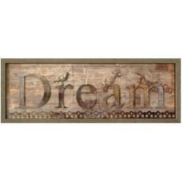 "14"" x 38"" Dream Framed Plaque thumb"