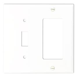 White Decora/Toggle Switch Receptacle Plate thumb