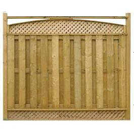 "6' 4"" Spruce Sanded One Side Top Arch Lattice Fence Package thumb"