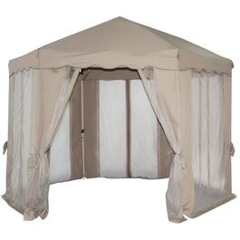 12' Hexagonal Soft Top Gazebo, with Net thumb