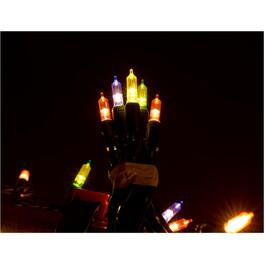50 LED Multi Colour M5 Vintage Light Set, with Green Wire thumb