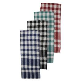 4 Pack Tea Towels, Assorted Colours thumb