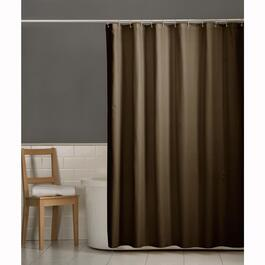 "70"" x 72"" Chocolate Polyester Shower Curtain Liner thumb"