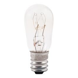 6W S6 Candelabra Base Clear Indicator Light Bulb thumb