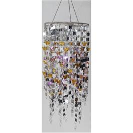Hanging Battery Operated Chandelier Pendant Light, Assorted Colours thumb
