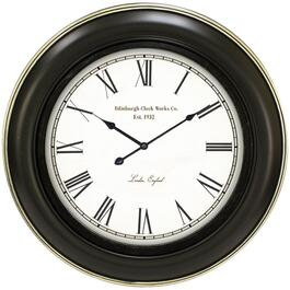"26"" Ebony Patton Round Wall Clock thumb"