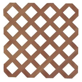 4' x 8' Redwood Classic Ultra Light Vinyl Lattice thumb