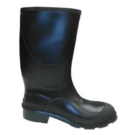 Boy's Size 6 Black Economical Moulded Rubber Boots thumb
