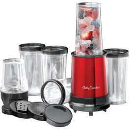 300 Watt 17 Piece Red Multi-Purpose Personal Blender Set, with Plastic Cups thumb
