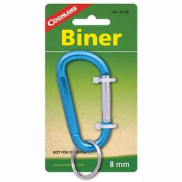 8mm Aluminum Biner, with Key Ring thumb