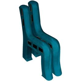 2 Pack Kentucky Green Plastic Park Bench Ends thumb