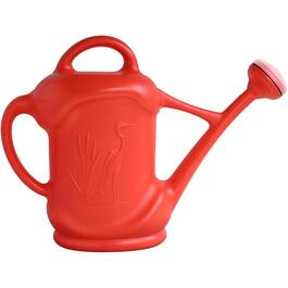 11.4L Flame Orange Plastic Watering Can, with Heron Design thumb