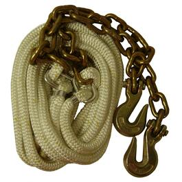 "12000lbs Capacity 5/8"" x 20' Tow Rope, with Chain thumb"