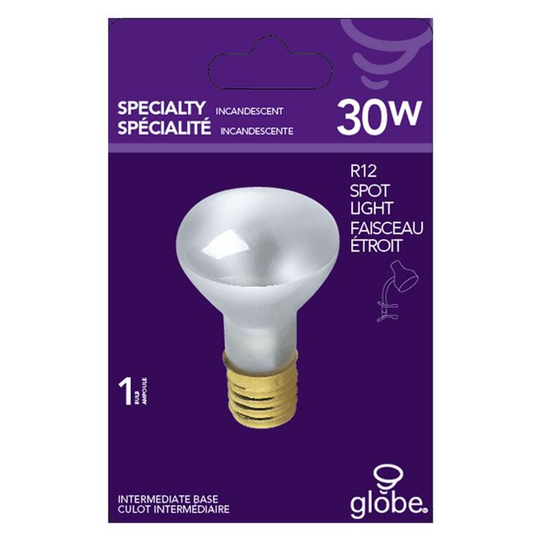 Globe Electric 30w R12 Intermediate Base Spot Light Bulb