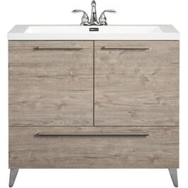 "36"" x 19"" Malea Silverwood 2 Door/1 Drawer Vanity thumb"