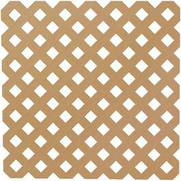 4' x 8' Cedar Diamond Vinyl Privacy Lattice thumb