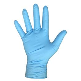 100 Pack Extra Large Blue 4mm Nitrile Gloves thumb