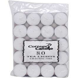 80 Pack 3.5 Hour White Tealight Candles thumb