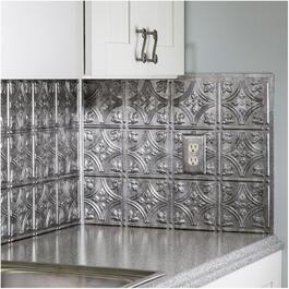 "18"" Crosshatch Silver Inside Corner Backsplash Trim thumb"