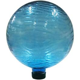 "10"" Blue Glass Groovy Gazing Globe thumb"