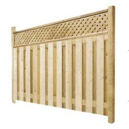 5' Cedar Privacy Lattice Fence Package thumb