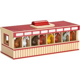9 Piece Stable Horse Playset thumb