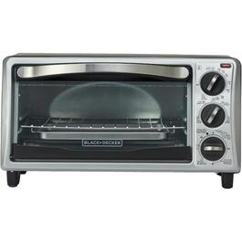 4 Slice Black/Stainless Steel Toaster Oven thumb