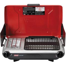 10,000 BTU Red Propane Grill and Stove thumb