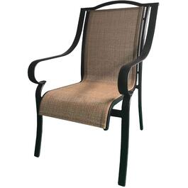 Urban Black Aluminum Sling Dining Chair thumb