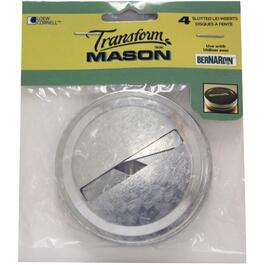 4 Pack Regular Slot Mason Jar Lids thumb