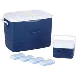 6 Piece Cooler Combo, with 50 Quart, 5 Quart and 4 Ice Packs thumb