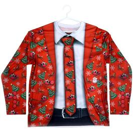 Red Men's Ugly Christmas Sweater, Assorted Sizes thumb