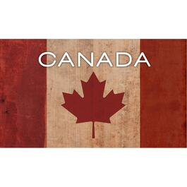 "14"" x 24"" Canadian Flag Wall Plaque thumb"