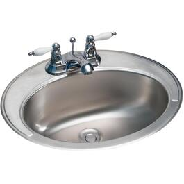 "16 7/8"" x 20 3/8"" x 6 1/4"" Stainless Steel Vanity Basin thumb"