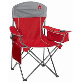 Red and Grey Oversized Quad Camping Chair, with Cooler thumb