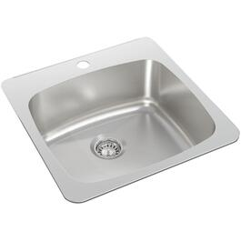 "20"" x 20 1/2"" x 8 1/8"" Stainless Steel Single Drop In Kitchen Sink thumb"