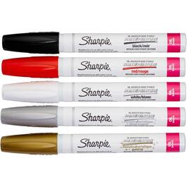 5 Pack Medium Point Permanent Paint Markers thumb