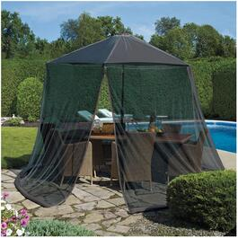 Black Permethrin Coated Mosquito Net, for Umbrella thumb
