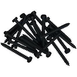 "100 Pack 8"" x 1-1/4"" Black Robertson Pan Head Screws, for Aluminum Soffit and Fascia thumb"