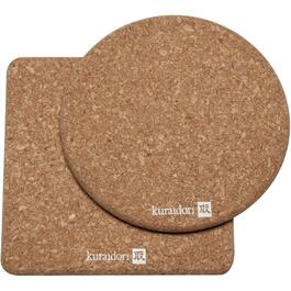 2 Piece Cork Trivet Set thumb
