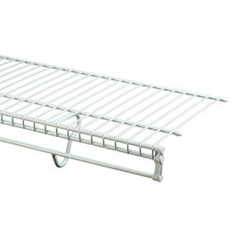 "12"" x 12' White Totalslide Wire Shelf thumb"