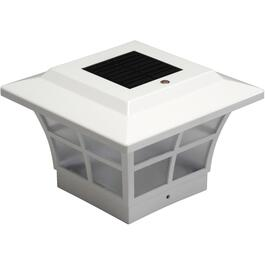 "4"" x 4"" Solar Prestige White Post Cap thumb"