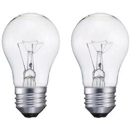 2 Pack 40W A15 Medium Base Clear Appliance Light Bulbs thumb