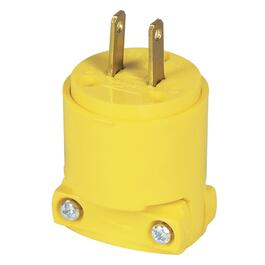 2 Wire 15 Amp 125V Yellow Electrical Plug thumb