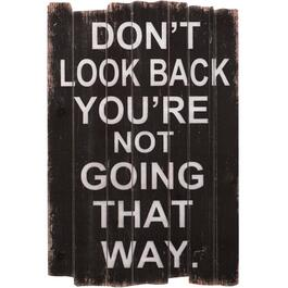 "16"" x 23.5"" Don't Look Back Wall Plaque thumb"