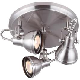 Polo 3 Light Brushed Nickel Flush Track Ceiling Light Fixture thumb