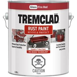 3.78L Gloss Fire Red Alkyd Rust Paint thumb