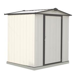 6' x 5' Cream with Charcoal Trim Storage Shed thumb