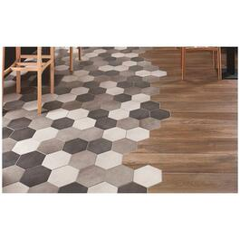 "4.96 sq. ft. 8"" x 7"" Dust Pixel Hex Porcelain Tile Flooring thumb"