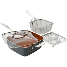 24cm Non Stick Saute Pan, with Lid thumb